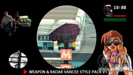 Weapon & Radar VanCee Style Pack v1 para GTA San Andreas