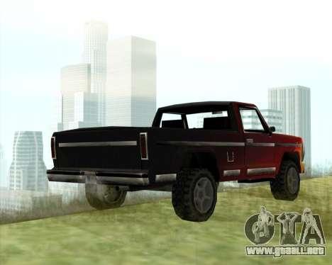 El Nuevo Jeep (Yosemite) para GTA San Andreas vista posterior izquierda