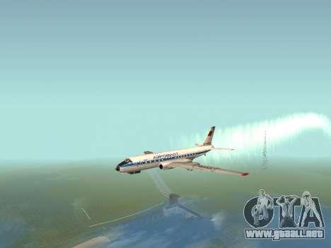 Tu-Un para GTA San Andreas vista posterior izquierda