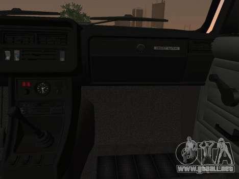 VAZ-2107 para visión interna GTA San Andreas