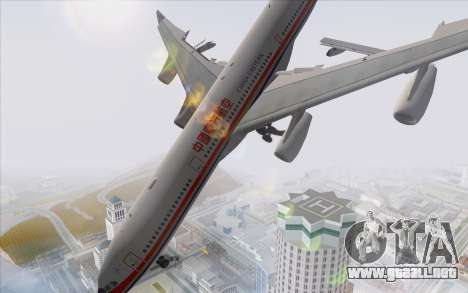 Airbus A340-300 China Eastern para GTA San Andreas left