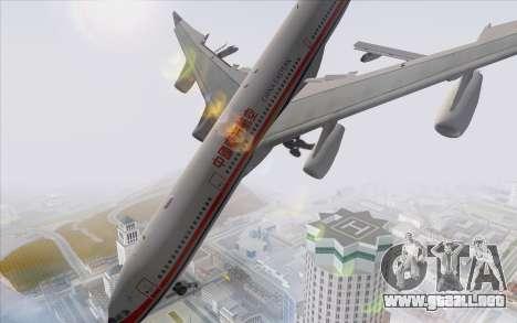 Airbus A340-300 China Eastern para GTA San Andreas left