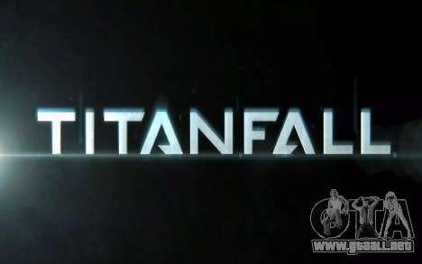 Arranque de las pantallas y menús de Titanfall para GTA San Andreas