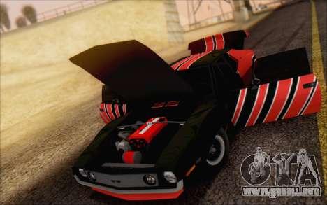 AMC Javelin para GTA San Andreas vista hacia atrás