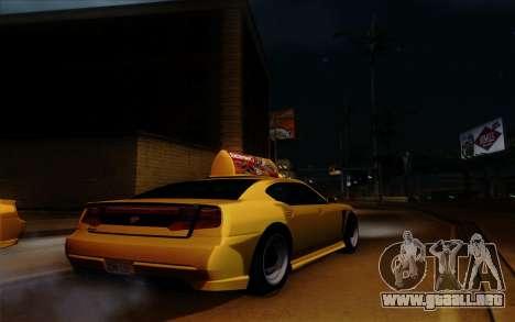 Buffalo Taxi para visión interna GTA San Andreas