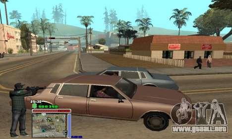 C-HUD Grove by Krutoyses para GTA San Andreas segunda pantalla