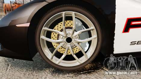 Lamborghini Huracan Cop [Non-ELS] para GTA 4 vista hacia atrás