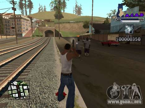 C-HUD new A.C.A.B para GTA San Andreas sucesivamente de pantalla
