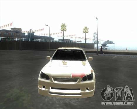Lexus IS300 Tuneable para GTA San Andreas left