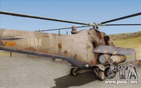 Mi-24D Hind from Modern Warfare 2 para GTA San Andreas vista hacia atrás