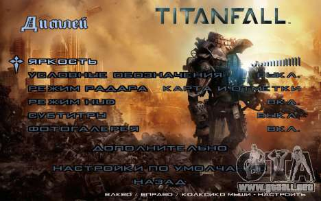 Arranque de las pantallas y menús de Titanfall para GTA San Andreas quinta pantalla