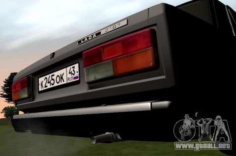 VAZ-2107 para la visión correcta GTA San Andreas