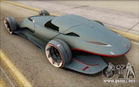 Mercedes-Benz SilverArrow para GTA San Andreas vista hacia atrás