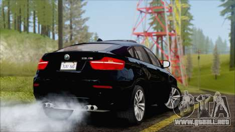 BMW X6M E71 2013 300M Wheels para la visión correcta GTA San Andreas