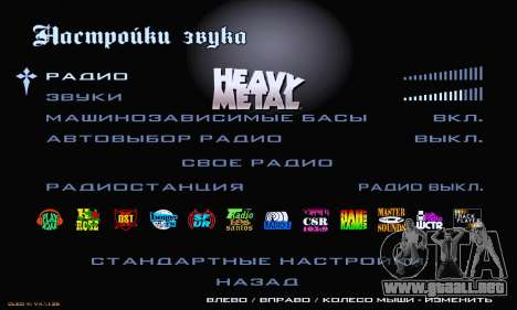 Heavy Metal Menu V.1 para GTA San Andreas sexta pantalla