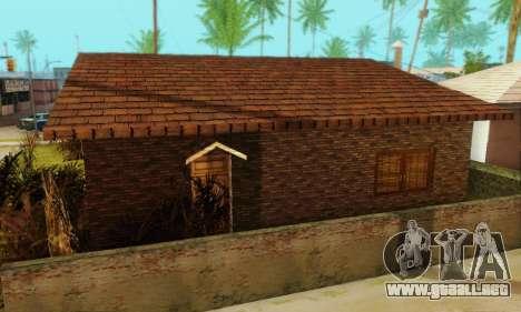Nuevas texturas de la casa de Denis para GTA San Andreas sucesivamente de pantalla