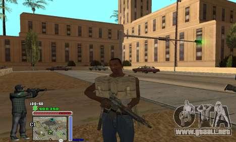 C-HUD Grove by Krutoyses para GTA San Andreas tercera pantalla