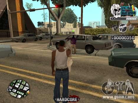 C-HUD Hardcore By KD para GTA San Andreas sexta pantalla