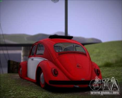 Volkswagen Beetle Stance para la visión correcta GTA San Andreas