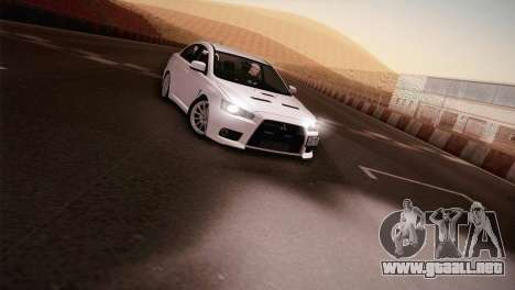 Mitsubishi Lancer Evolution para GTA San Andreas vista posterior izquierda