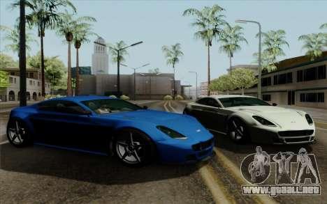Rapid GT para GTA San Andreas vista posterior izquierda