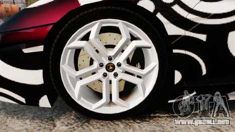 Lamborghini Aventador LP700-4 2012 [EPM] Circle para GTA 4 vista hacia atrás