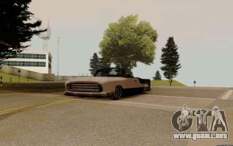 Oceanic Convertible para GTA San Andreas vista hacia atrás