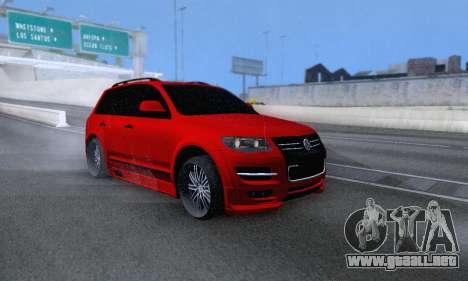 Volkswagen Touareg Mansory para vista lateral GTA San Andreas