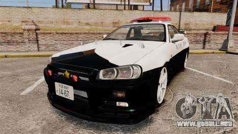 Nissan Skyline GT-R R34 Saitama Police para GTA 4