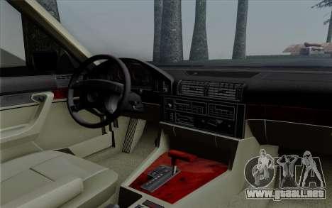 BMW 540i (E34) para vista lateral GTA San Andreas