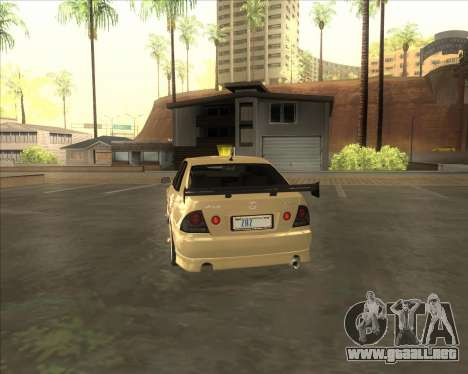 Lexus IS300 Tuneable para la visión correcta GTA San Andreas