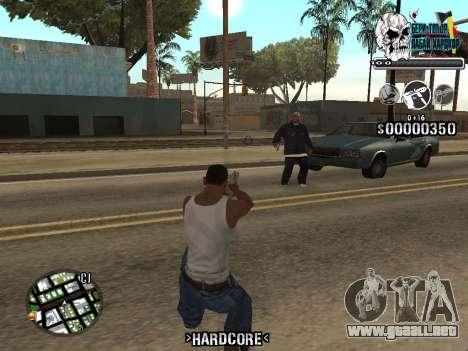 C-HUD Hardcore By KD para GTA San Andreas sucesivamente de pantalla