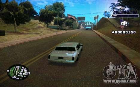 C-HUD Tawer Gitto para GTA San Andreas quinta pantalla