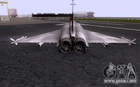 Dassault Rafale M para vista inferior GTA San Andreas