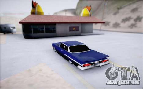 Voodoo Low Car v.1 para GTA San Andreas vista hacia atrás