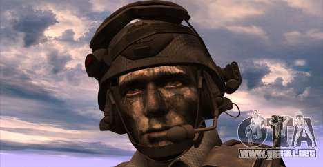 Teniente David Hesh Walker из De Call of Duty: G para GTA San Andreas quinta pantalla