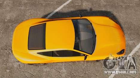 GTA V Dewbauchee Massacro para GTA 4 visión correcta