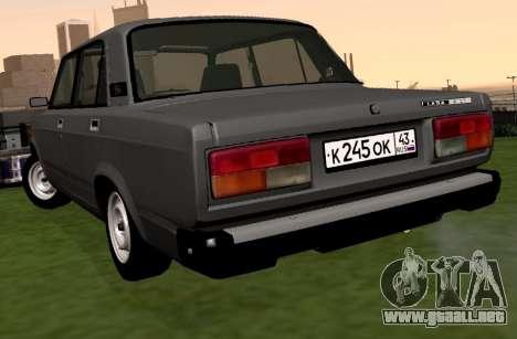 VAZ-2107 para GTA San Andreas vista posterior izquierda