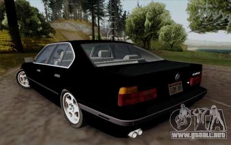 BMW 540i (E34) para GTA San Andreas vista hacia atrás