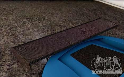 Gumpert Apollo S Autovista para GTA San Andreas interior