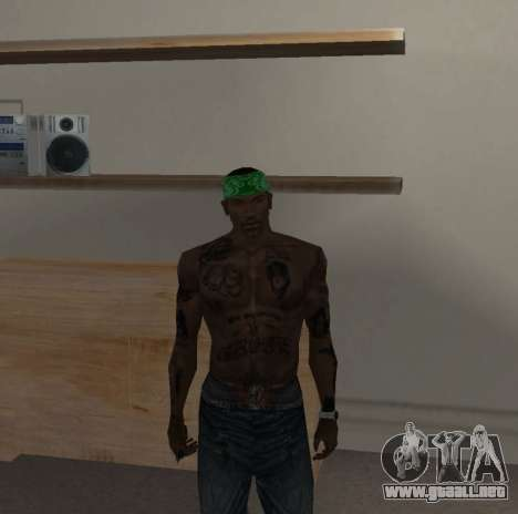 Nueva bandanas para CJ para GTA San Andreas