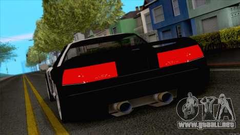 Infernus Police para GTA San Andreas vista posterior izquierda