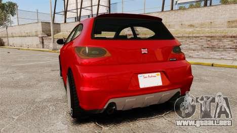 GTA V Dinka Blista para GTA 4 Vista posterior izquierda