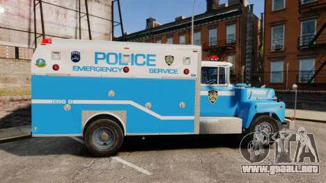 Mack R Bronx 1993 NYPD Emergency Service [ELS] para GTA 4 left