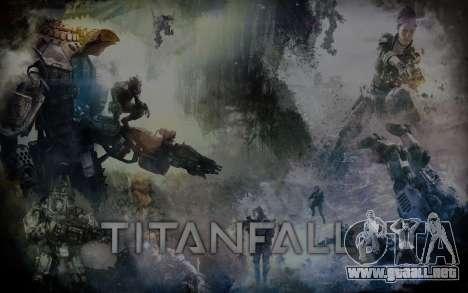 Arranque de las pantallas y menús de Titanfall para GTA San Andreas tercera pantalla