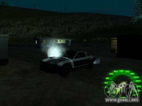 El velocímetro en el estilo de neón para GTA San Andreas tercera pantalla