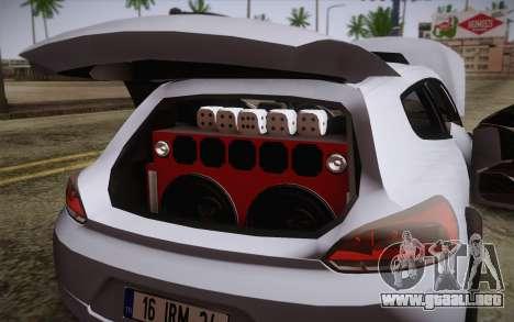 Volkswagen Scirocco para visión interna GTA San Andreas