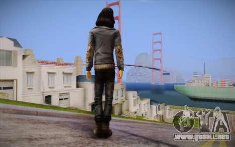 Sarah из The Walking Dead para GTA San Andreas segunda pantalla