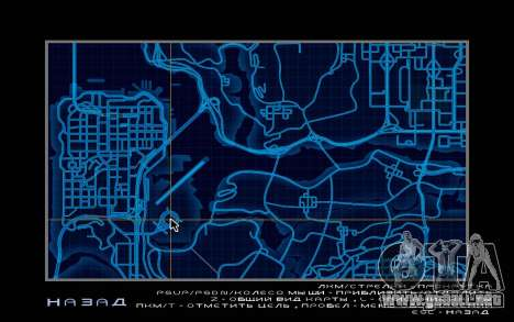 Mapa estilo de need For Speed World para GTA San Andreas sucesivamente de pantalla