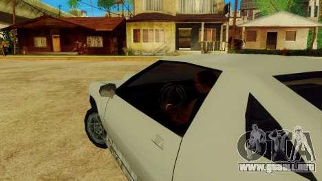 La rotación de la rueda de los coches estándar para GTA San Andreas quinta pantalla